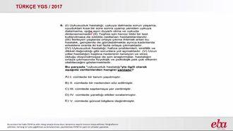 YGS 2017 / Türkçe / Cümlenin Anlamı, Anlatımı ve Yorumu izle