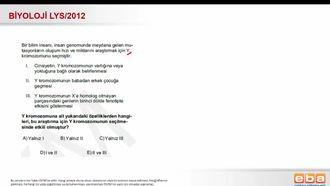 2012 LYS Biyoloji Kalıtım (Mutasyon) izle