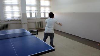 Van Edremit Mesleki ve Teknik Anadolu Lisesi Masa Tenisi Takımı Backhand Duvar Çalışm... izle