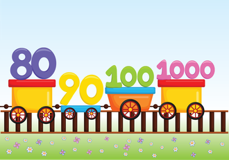 10'ar ritmik sayar.(80-100-1000)