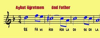The GodGather God Father Notası Notası Piyano Trompet Blok Flüt Melodika Notası izle