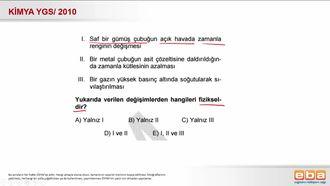 2010 YGS- Fiziksel ve Kimyasal Değişimler izle