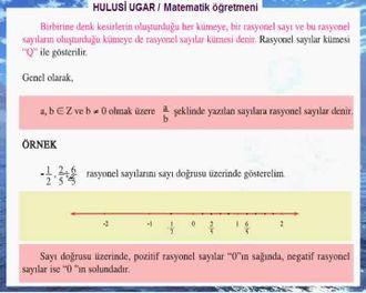 7.Sınıf Matematik / Rasyonel Sayılar / Hulusi Ugar izle