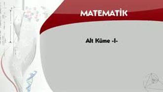 Alt Küme - 1 izle
