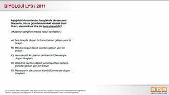 2011 LYS Biyoloji Üreme Çeşitleri izle