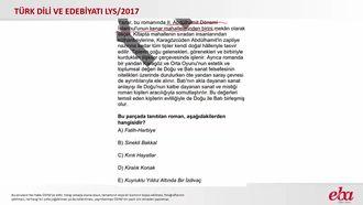 Anlatmaya Bağlı Edebî Metinler-Roman (2017 LYS- TÜRK DİLİ VE EDEBİYATI) izle