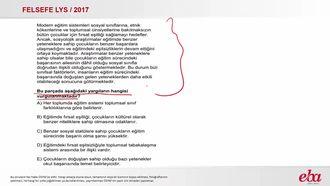 Toplumsal Tabakalaşma (2017 LYS- FELSEFE) izle