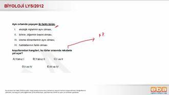 2012 LYS Biyoloji Rekabet izle