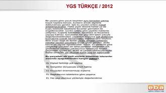 2012/YGS SÖZCÜK VE SÖZCÜK ÖBEKLERİNDE ANLAM izle