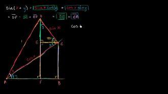 Kosinüs İçin Toplam Açı Formülü Kanıtı izle