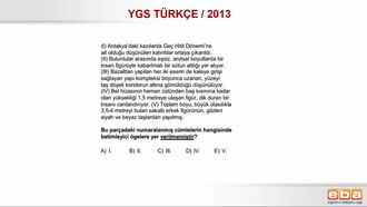YGS 2013/ PARAGRAFIN ANLATIM TEKNİKLERİ izle