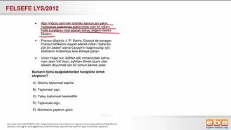 2012 LYS Toplumsal Sapma izle