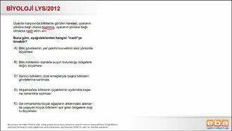 2012 LYS Biyoloji Bitkisel Hareketler izle