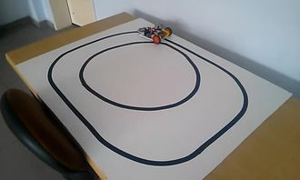Basit çizgi izleyen robot izle