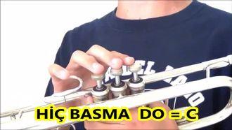 Trompet Notaları Parmak Yerleri Trompette Nota Nasıl Basılır izle