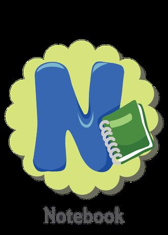 """İngilizce alfabede bir resimle """"n"""" harfini tanır.(Notebook)"""