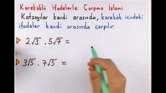 8. Sınıf Matematik Kareköklü İfadelerle Çarpma-Bölme izle