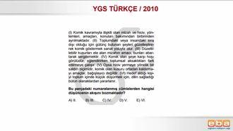 2010 YGS TÜRKÇE /PARAGRAFIN ANLAMI/ ANLATIMIN AKIŞINI BOZAN CÜMLE izle