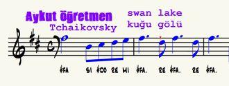 Swan Lake Kuğu Gölü Balesi Notası Blok Flüt Trompet Melodika Piyano Tchaikovsky Rus B... izle
