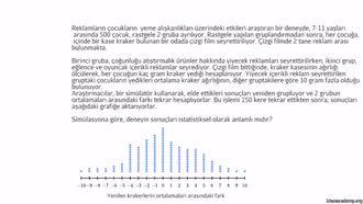 Bir Deneyin İstatistiksel Anlamı izle
