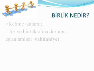 DEĞERLER EĞİTİMİ ''BİRLİK VE BERABERLİK'' izle