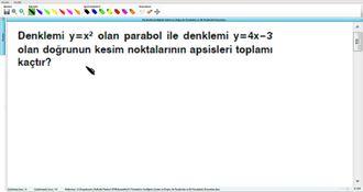 Parabolün Grafiğinin Çizimi Ve Doğru İle Parabolün Ve İki Parabolün Durumları 11 ... izle