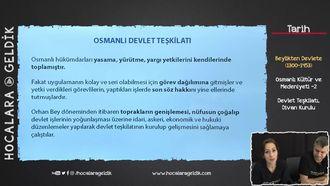 Osmanlı Kültür ve Medeniyeti -2 / Devlet Teşkilatı, Divan Kurulu izle