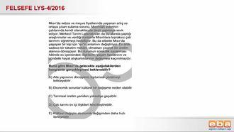 2016 LYS4 Felsefe Grubu Kültürel Değişimin Nedenleri izle