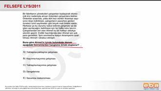 2011 LYS-4 FELSEFE ÇATIŞMALAR izle