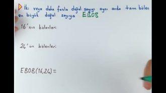 8. Sınıf Matematik EBOB-EKOK (Giriş) izle