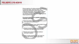 2015 LYS4 Felsefe Birey Davranışları izle