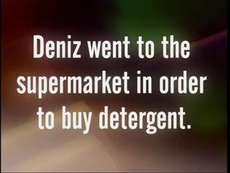 Deniz went to the supermarket ın order to buy detergent izle