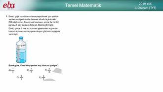 2019 YKS/TYT Matematik (1.Oturum) izle