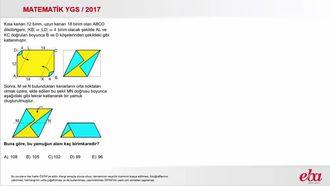 Paralelkenar (2017 YGS - Matematik) izle