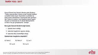 Osmanlı Kültür ve Uygarlığı (2017 YGS-TARİH) izle