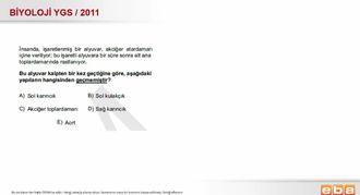 2011 YGS Biyoloji Dolaşım Sistemi izle