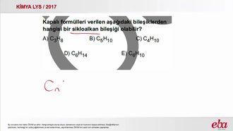 Siklo Alkanlar (2017 LYS- KİMYA) izle