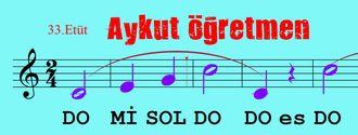 33.Etüt Nota Okuma Dersi Solfej Blok Flüt Piyano Keman Gitar Müziği Sevdirme Yolları izle