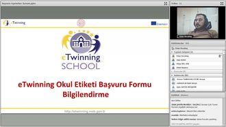 eTwinning Okul Etiketi Başvuru Formu Bilgilendirme Webinarı 2019 izle