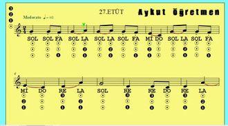 27.Etüt Nota Okuma Dersi Solfej Blok Flüt Piyano Keman Gitar Müziği Sevdirme Yolları izle