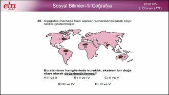 2018 YKS/AYT Sosyal Bilimler 1 Coğrafya (2. Oturum) izle