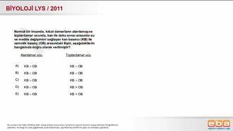 2011 LYS Biyoloji Dolaşım Sistemi izle