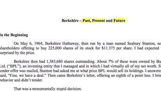 Warren Buffett ın yıllık mektubu izle
