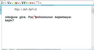 Polinomun Tanımı Ve Temel Kavramları - Kurs - 16 izle