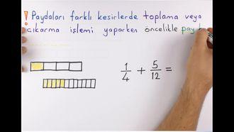 6. Sınıf Matematik Kesirlerle Toplama-Çıkarma izle