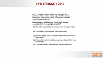 YGS 2013 / CÜMLEDEN ULAŞILACAK YARGI izle