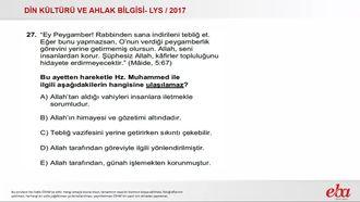 Kuran'a Göre Hz.Muhammed(2017 LYS-DKAB) izle