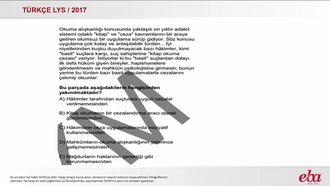 Paragrafın Anlamı ve Yorumu ( LYS 2017-TÜRK DİLİ VE EDEBİYATI) izle