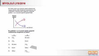 2016 LYS Biyoloji Oksijensiz Solunum izle