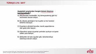 Cümlenin Anlatımı (LYS 2017-TÜRK DİLİ VE EDEBİYATI) izle